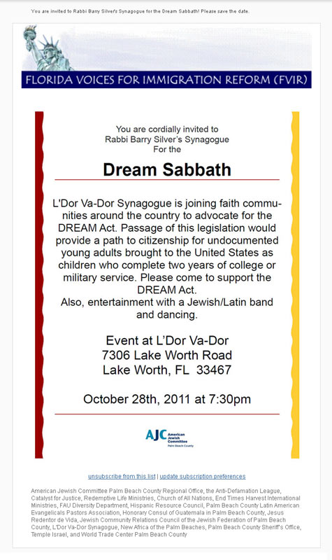 Click on this image to see the original invitation to Dream Sabbath